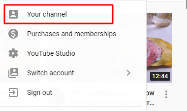 Step 1. Access your YouTube Channel