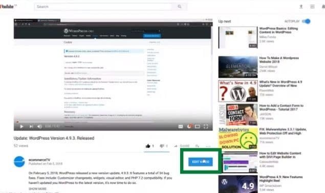 How to change title of YouTube video?