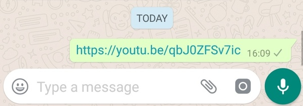paste the link in whatsapp chatbox