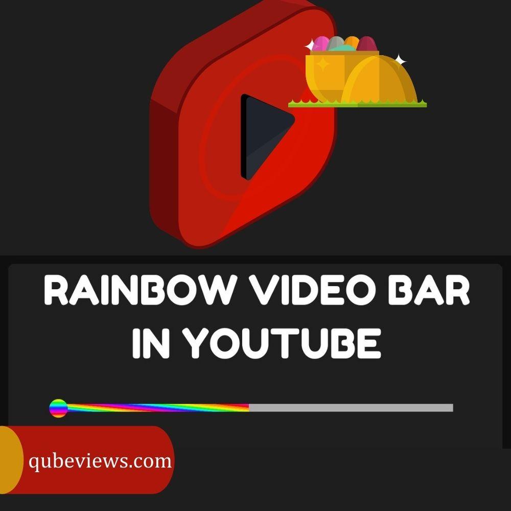 How to make the YouTube bar rainbow?
