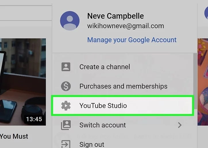 Step 2 to add Social Media Icons to Youtube Banner