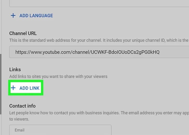 Step 5 to add Social Media Icons to Youtube Banner
