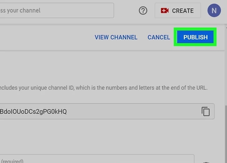 Step 7 to add Social Media Icons to Youtube Banner