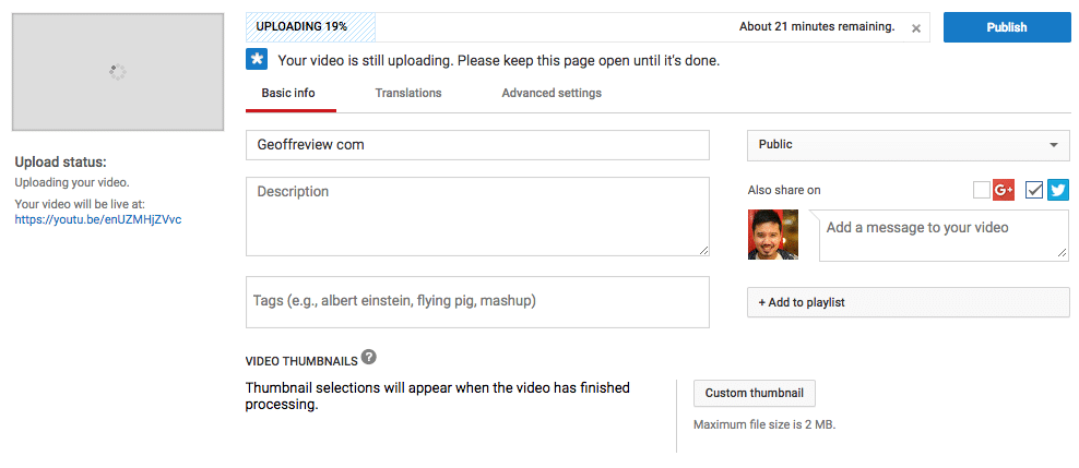 How you can pause a YouTube upload