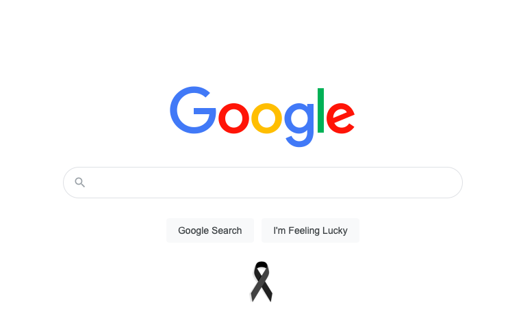 Black Ribbon on Google's Home Page