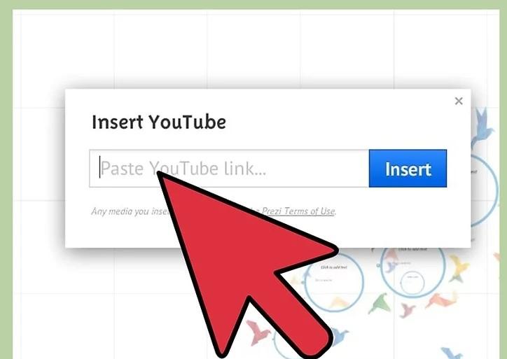 Embed Youtube Video in Prezi Step 7