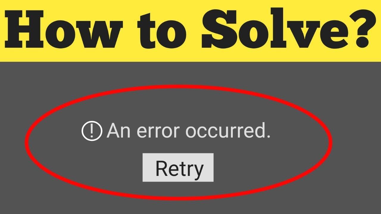 Error Occurred