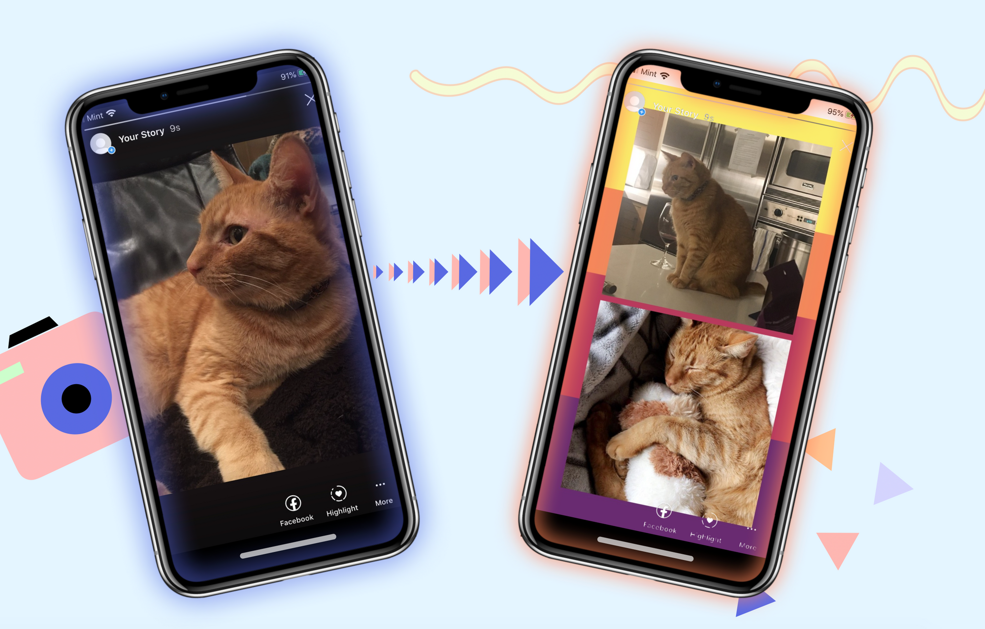 How to Put Multiple Pictures on a Instagram Story