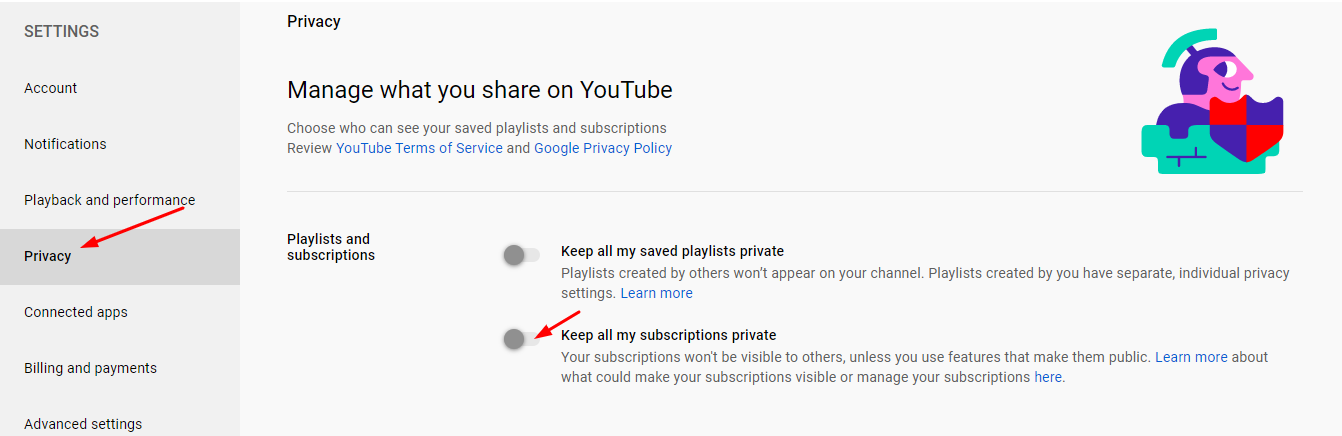 Make YouTube Subscriptions Public