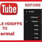 How to turn off 60fps on YouTube
