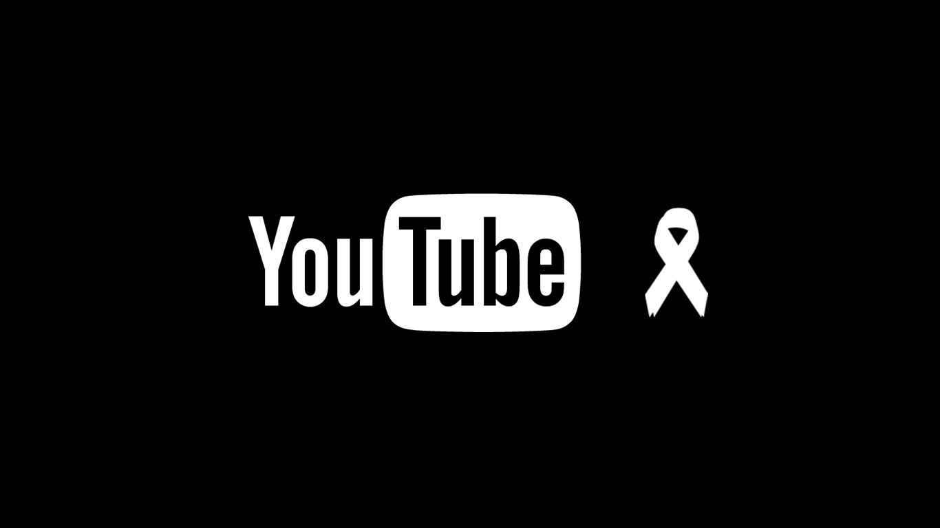 Why Does YouTube Have the Black Ribbon These Days