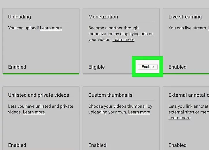 connect youtube to adsense step 3