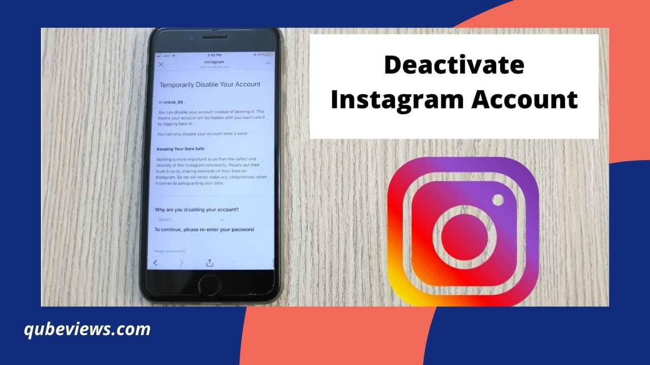 How to Deactivate Instagram Account on iPhone?