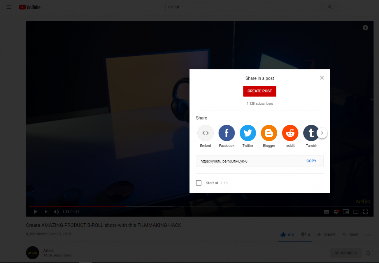 How To Share A YouTube Video On Instagram on PC