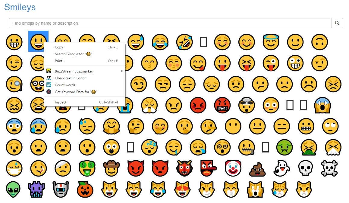 Option 2- Copy Emojis From Websites