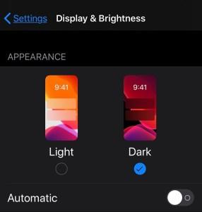 TikTok dark mode on iphone