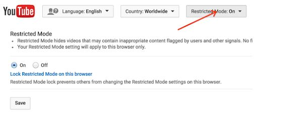 Turn Off Safety Mode on YouTube