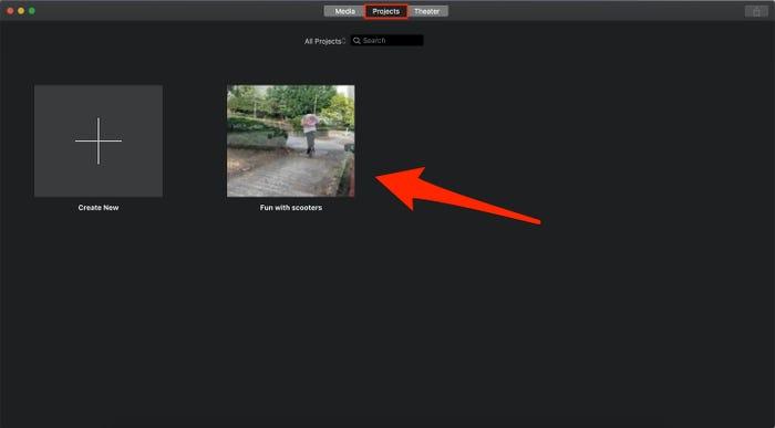Upload iMovie Videos on YouTube step 1