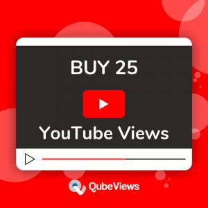 BUY 25 YouTube Views