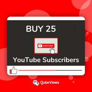 Buy 25 YouTube Subscribers