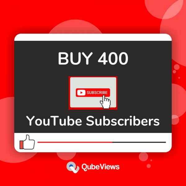 Buy 400 YouTube Subscribers