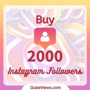 Buy 2000 Instagram Followers