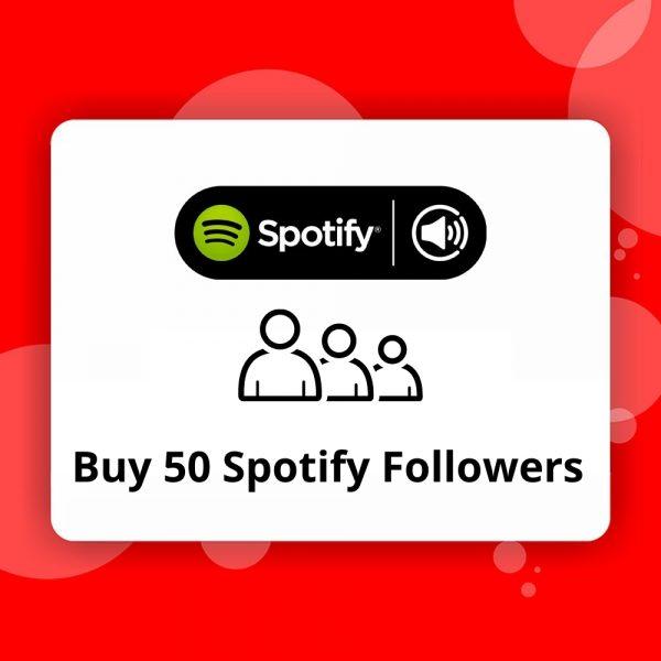 Buy 50 Spotify Followers