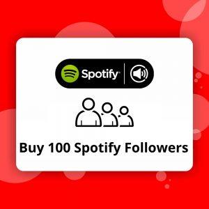 Buy 100 Spotify Followers