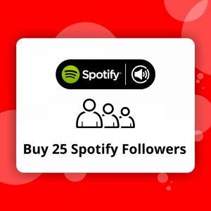 Buy 25 Spotify Followers