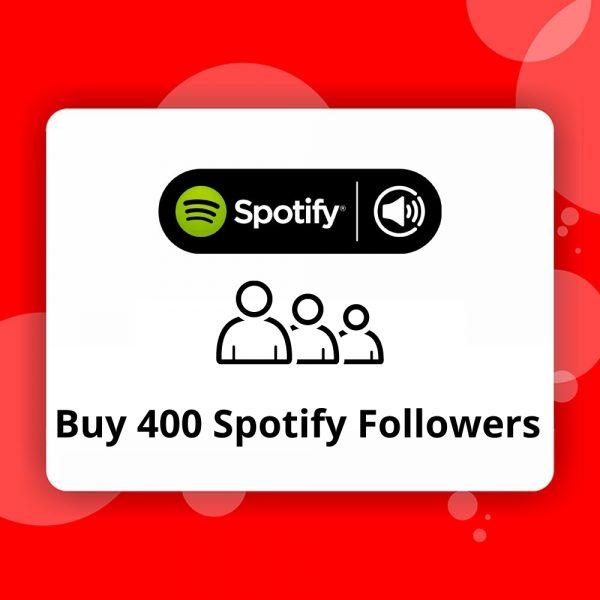 Buy 400 Spotify Followers