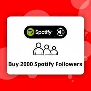 Buy 2000 Spotify Followers
