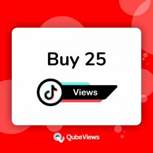 Buy 25 TikTok Views