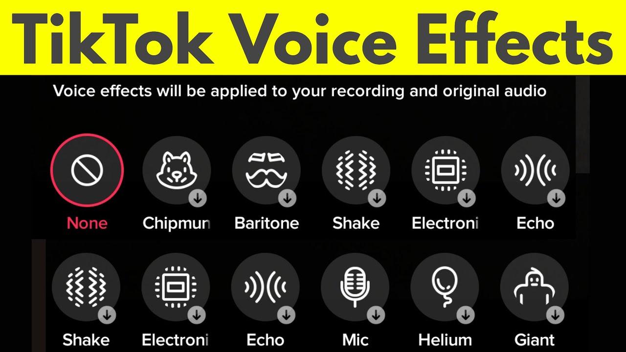 TikTok Voice Effects
