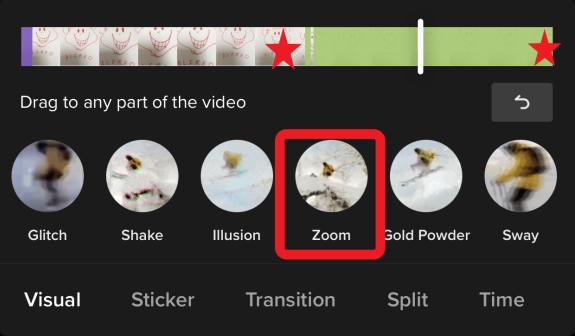 Zoom Effect While Recording TikTok Video